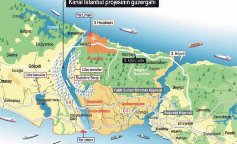 Kanal İstanbul'a 'su yolu' tanımı ekleniyor!