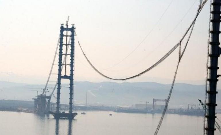 İzmit Körfez Geçiş Köprüsünün Halatı Koptu