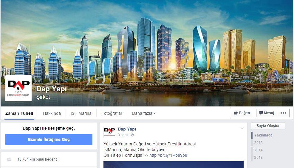 Dap Yapı facebook hesabı