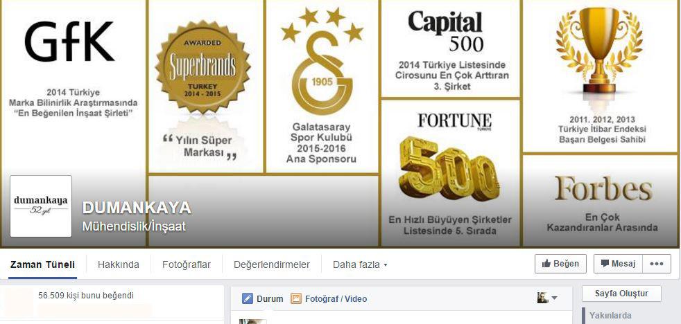 Dumankaya facebook sayfası