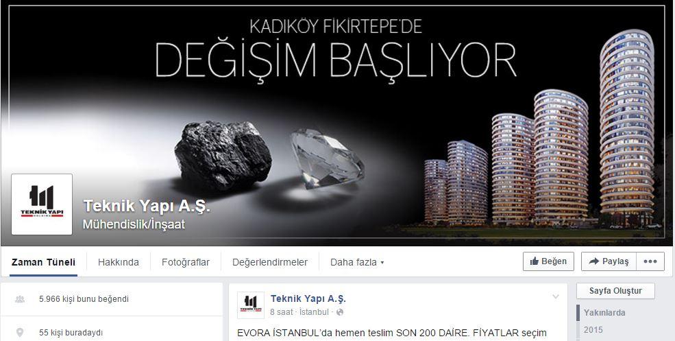 Teknik Yapı facebook sayfası