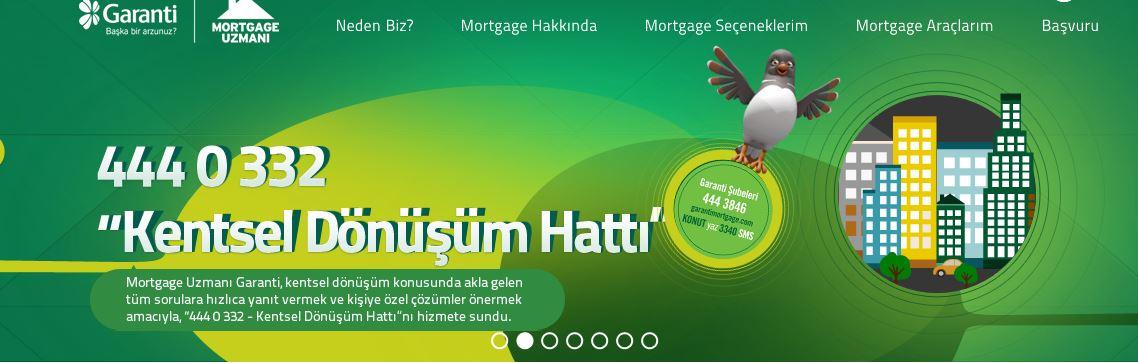 garanti mortgage kentsel dönüşüm hattı
