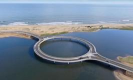 Uruguay'da daire şeklinde köprü