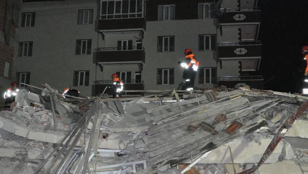 yozgatta bina çökmesi