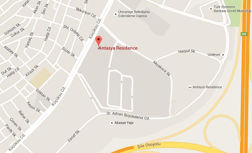 Antasya residence ulaşım
