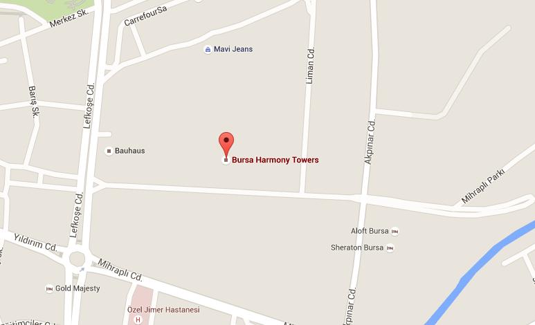 Harmony Towers Bursa, ulaşım