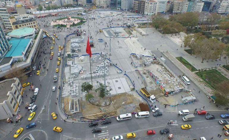 Taksim Meydanı Çevre Düzenlemesi çalışmalarında ikinci etaba gelindi