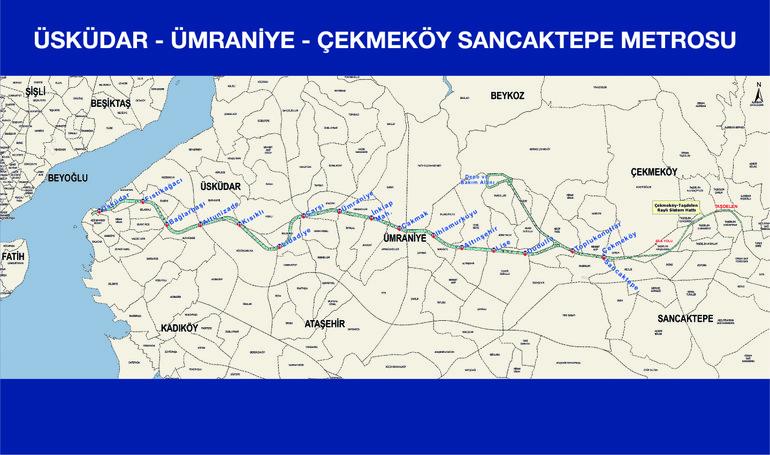 üsküdar çekmeköy metro hatları