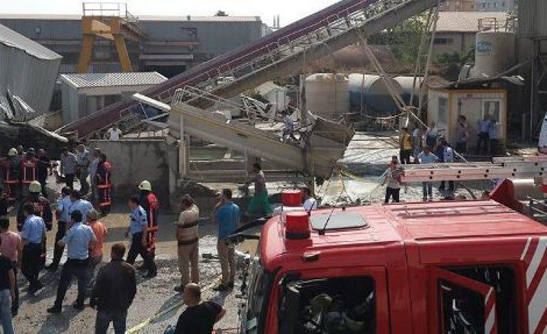 İstanbul'da beton santralinde çökme yaşandı