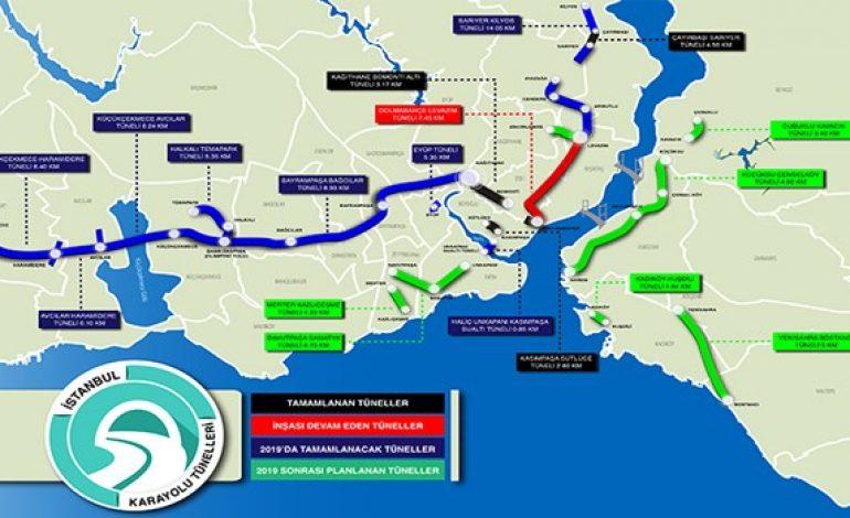 11 Yeni Tünel İle İstanbul Trafiğine Çözüm Aranıyor