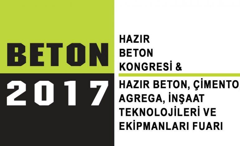 İnşaat ve beton Sektörü Beton 2017'de Buluşuyor