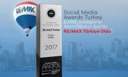 Social Media Awards Emlak Ödüllerinde Altın Ödül RE/MAX'a Verildi