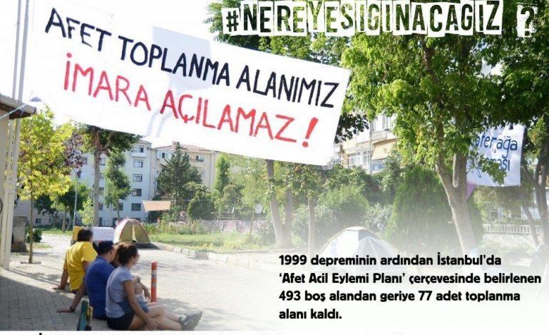 Depremin Yıldönümünde İstanbul Belediyelerinin Deprem Toplanma Alanı Muamması