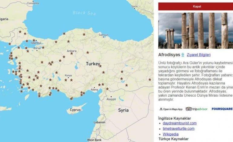 Türkiye'nin Tüm Antik Kentleri Tek Haritada
