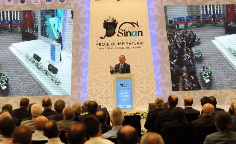 Mehmet Özhaseki Mimar Sinan Uluslararası Proje Olimpiyatları Ödül Töreninde Konuştu
