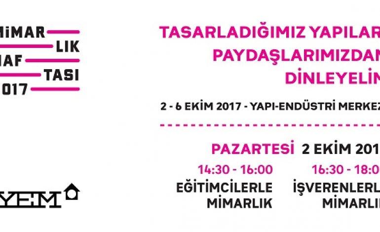 2017 Mimarlık Haftası Başlıyor, 2 – 6 Ekim 2017