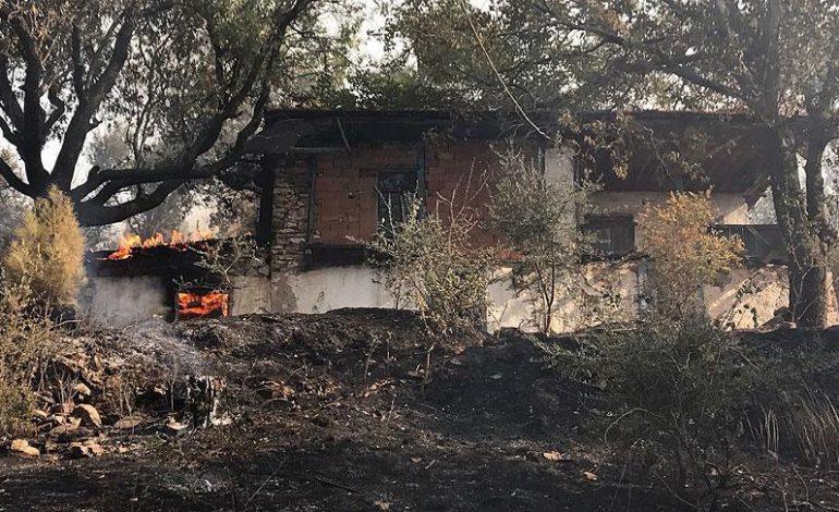 Muğla'daki orman yangınında 30 ev zarar gördü