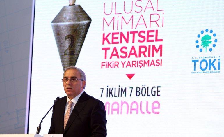 """Toki Başkan Mehmet Ergün Turan'ın """"Kentsel Tasarım Fikir Yarışması""""ndaki konuşması"""