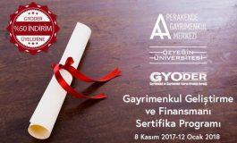 GYODER'den, Gayrimenkul Geliştirme ve Finansmanı Sertifika Programı