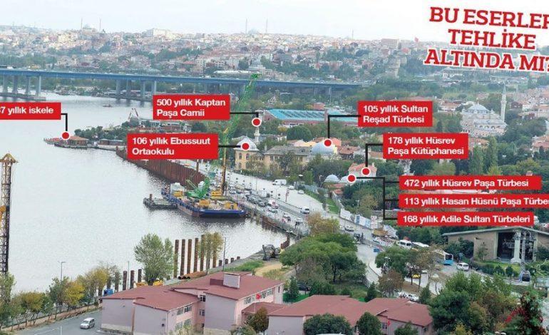 Haliç'te tramvay hattı için çakılan kazıklar tarihi yapılar için tehlike mi?