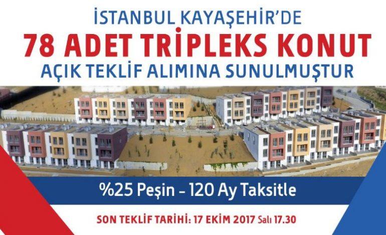 Kayaşehir'de 78 adet tripleks satışa çıktı