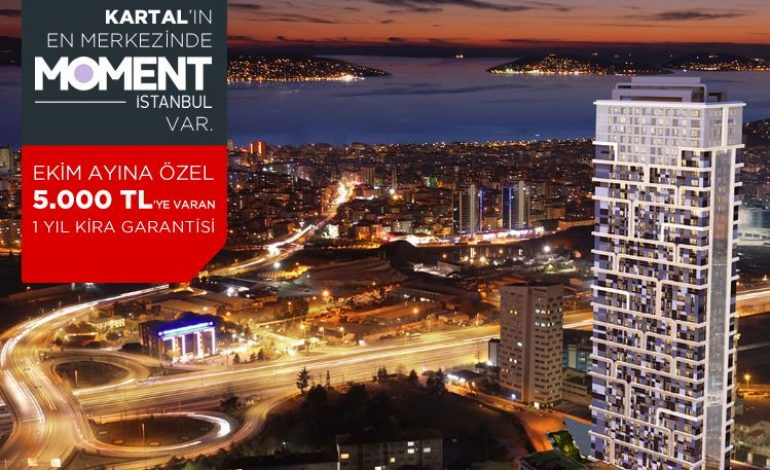 Moment İstanbul'da 5.000 TL'ye Varan Kira Garantili Kampanya