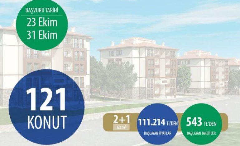Toki, Kayseri'de 121 konutu kura yöntemiyle satışa çıkardı