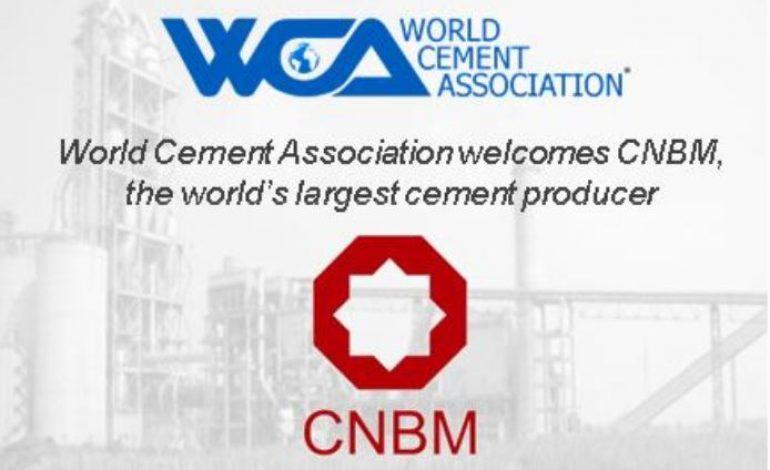 Dünyanın en büyük çimento üreticisi CNBM Dünya Çimento Birliği'ne katıldı