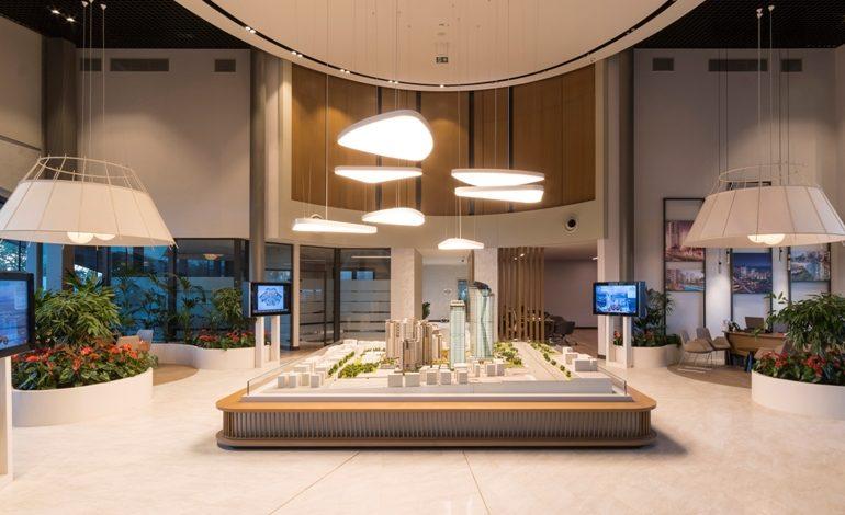 Nidapark Küçükyalı Satış Ofisi ve Örnek Dairelerinde  Gönye Proje Tasarım İmzası