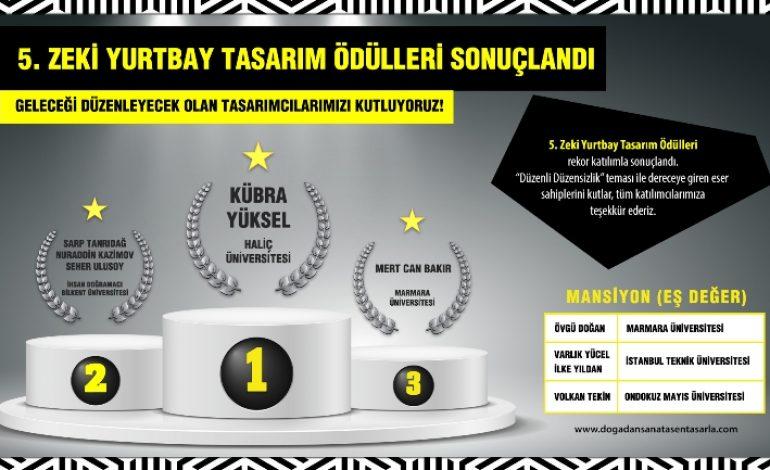 5. Zeki Yurtbay Tasarım Ödülleri Sahiplerini Buldu