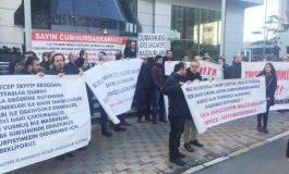 Dumankaya mağdurları TMSF önünde basın toplantısı düzenledi