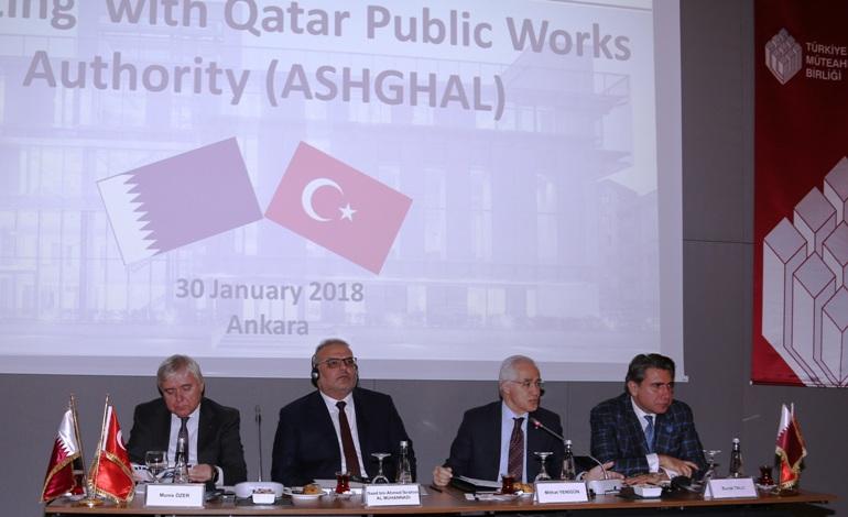 Katar Heyeti, Türkiye Müteahhitler Birliği ile muhtemel işbirliği fırsatlarını masaya yatırdı