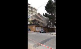 Fenerbahçe'de bina yıkıldı