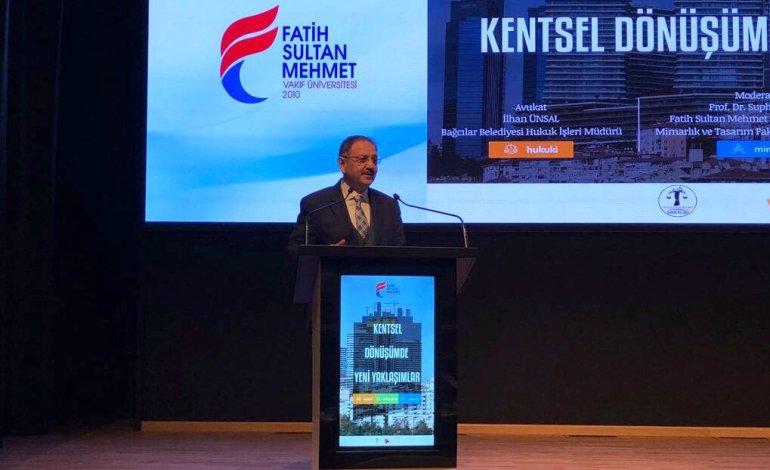 Özhaseki, Kentsel Dönüşümde Yeni Yaklaşımlar Panelinde Konuştu
