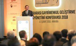 Bakan Özhaseki, Ankara Üniversitesi Uluslararası Gayrimenkul Geliştirme ve Yönetimi Konferansı'nda Konuştu
