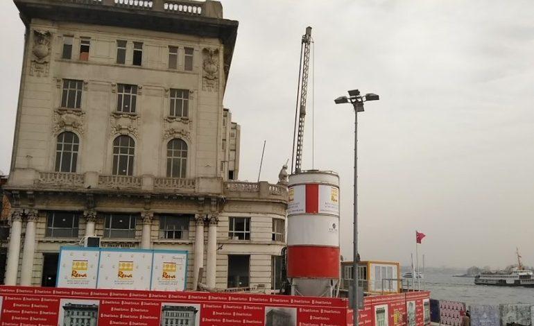 Karaköy Ziraat Bankası Binası Tadilatta