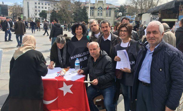 Fikirtepe'liler Kadıköy'de İmza Topladı