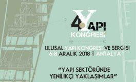 4.Ulusal Yapı Kongresi Antalya'da gerçekleştirilecek