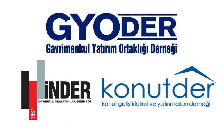 GYDOER, İNDER ve KONUTDER kampanyasındaki 150 proje