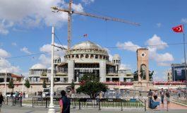 Taksim Camisi'nin kubbesi tamamlandı