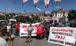 Dumankaya Mağdurları Ak Parti İstanbul İl Başkanlığı Önünde Basın Açıklaması Yaptı