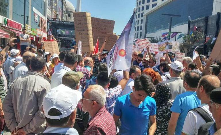 Osmanlı İnşaat mağdurları Esenyurt'ta protesto gerçekleştirdi