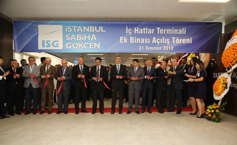Sabiha Gökçen'in Yeni İç Hatlar Terminali Hizmete Açıldı