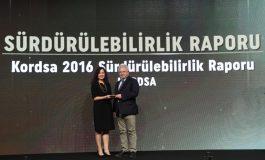 Kordsa Sürdürülebilirlik Raporu'na Sürdürülebilir İş Ödülü