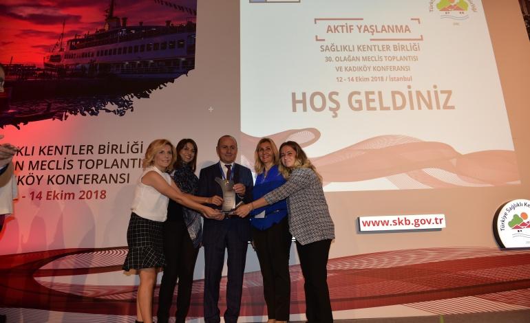 Kadıköy Belediyesi'ne 'Ekolojik Yaşam Merkezi' ile Sağlıklı Şehir Ödülü