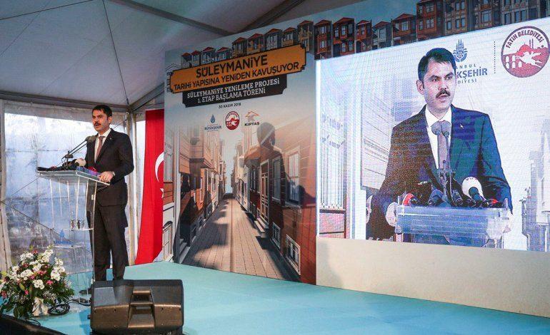 Süleymaniye Yenileme Alanı Proje Temel Atma Töreni Yapıldı