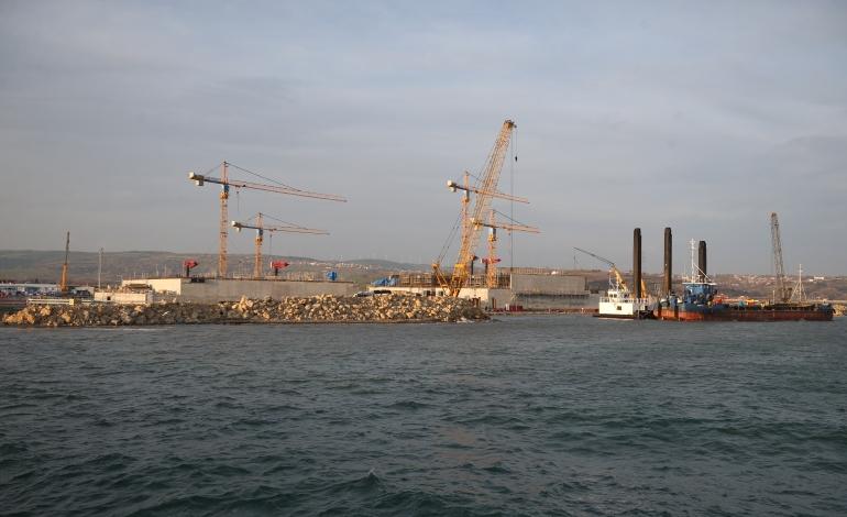 """1915 Çanakkale Köprüsü""""nde  ayak temelleri tamamlandı"""