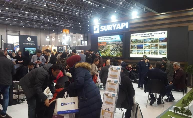 Evim Türkiye Fuarı'nda Sur Yapı Projeleri'ne ziyaretçi akını