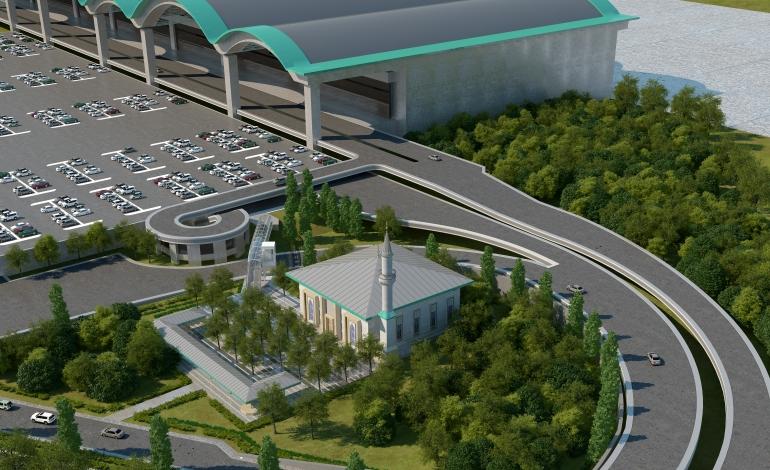 4d0b2be50b6db Sabiha Gökçen Havalimanı 2 Bin 800 Kişi Kapasiteli Cami Projesinin Temelini  Attı