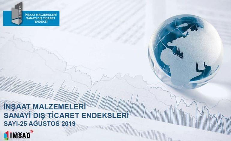 Türkiye İmsad İnşaat Malzemeleri Sanayi Dış Ticaret Endeksi Ağustos 2019